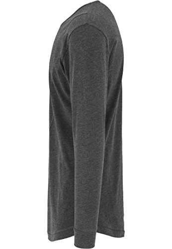 Urban Classics TB1101 Herren Langarmshirt Shaped Fashion Long Sleeve Tee Charcoal