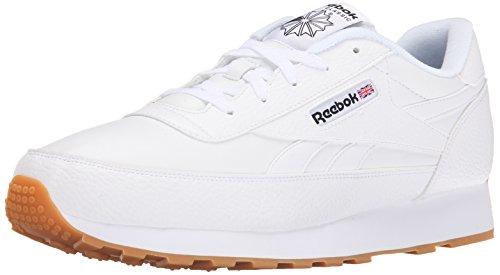 Reebok Men's CL Renaissance Gum Classic Shoe, Gum/White/Black, 14 M US