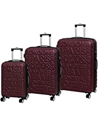it luggage 3 Piece Set of Destinations II - 8 Wheel Hard Shell Single Expander Suitcases