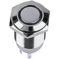 OxGrow (TM) nuovo arrivo in metallo Angel Eye LED Illuminato Interruttore a pulsante 16mm per cruscotto auto 12V Hot vendita