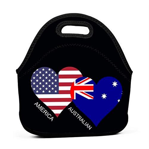 gatetop Lunchtasche, Neopren, isoliert, Motiv: Amerika, australische Flagge -