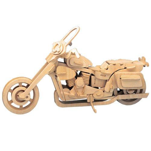 Harley Davidson II 3D Holzbausatz Motorrad Fahrzeug Holz Steckpuzzle Kinder Holzpuzzle P020