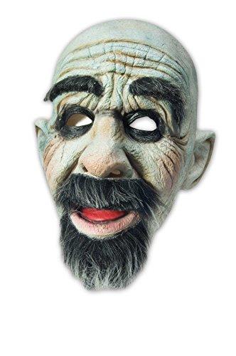 Latexmaske Böser Dunkler Mann mit Bart Halloween Killer Maske Halloweenmaske