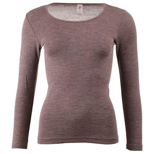 Engel Damen Unterhemd langarm, , 3 Farben, Gr. 34-48 (42/44, Walnuss)