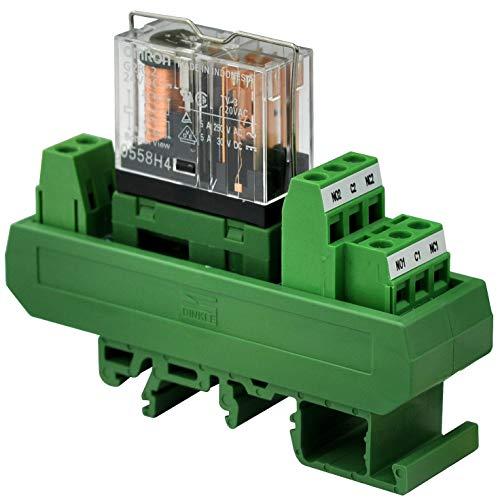 Electronics-Salon AC/DC 24V Slim DIN-Schienenmontage, 5 Amp DPDT Power Relay Interface Modul, G2R-2 24V - 24v 5 Din-module