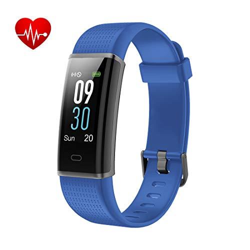 Yuanguo Fitness Armband mit Pulsmesser Fitness Tracker Wasserdicht IP68 Armbanduhr Aktivitätstracker Schrittzähler Kalorienzähler Schlafmonitor Farbbildschirm 14 Trainingsmodi für Damen Herrn Kinder