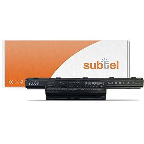 AS10D51 Batterie pour Packard Bell EasyNote LE / LM / LS / NM / NS / TK / TM / TS / TSX (4400mAh, 10.8V - 11.1V, noir) Lithium-Ion