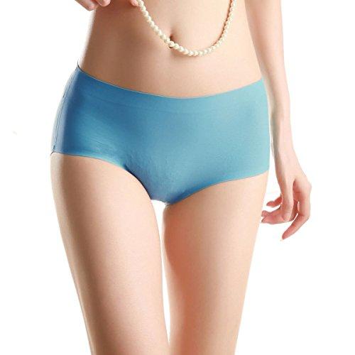 Bikini Mutandine Donna 4 Confezioni Di Traceless Ice Seta Puro Cotone File Pacchetto Sexy Ragazza Di Hip Triangolo In Vita A9