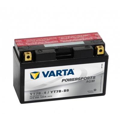 Varta Funstart AGM 507901012 A514 12 Volt 7 AH) battery YT7B YT7B-BS - 4