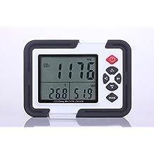 Perfect-Prime CO2000 Medidor y Monitor de Datos de Temperatura y Humedad de Aire y Dioxido de Carbono (CO2) con Pantalla LCD y Transferencia de Datos USB a PC para Analisis y Almacenamiento de Datos