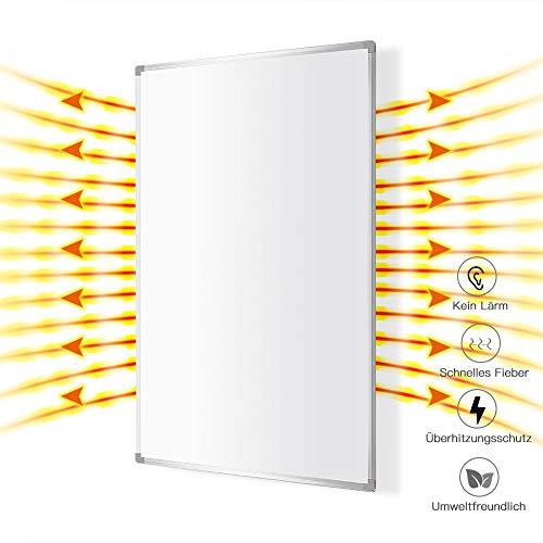 Infrarotheizung 600 Watt Elektroheizung mit Stecker Infrarot Heizung Überhitzungsschutz 10 Jahre Garantie,Heizkörper mit TÜV Elektroheizkörper Elektro Heizer Wärme Weiß MEHRWEG MICRO ENERGY SOLUTIONS