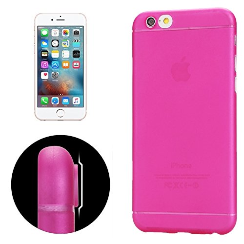 Pour iPhone 6 & 6S Protection ultramoderne pour caméra Design Translucence PP Case YAN ( Color : Yellow ) Magenta