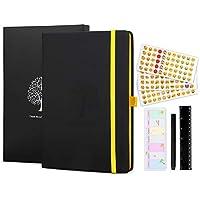 Dotted Notebook Momkey, Notebook escribi, Lined Notebook - dos marcadores de cinta en color, DIY Diario, Estudiante, Empresario, Creador