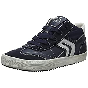 Geox J Alonisso Boy C Hi-Top Trainers, Blue (Navy/Grey C0661), 10 UK Child