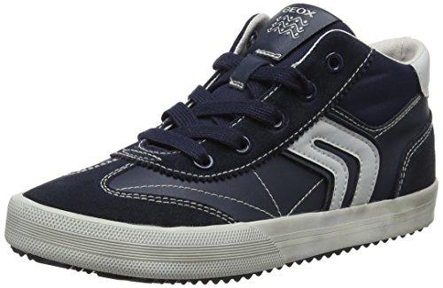 Geox Jungen J Alonisso Boy C Hohe Sneaker, Blau (Navy/Grey), 35 EU