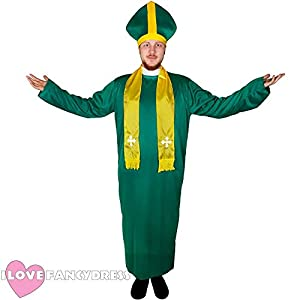 I Love Fancy Dress ilfd4047s Hombres del Irlandés Disfraz de Sacerdote (pequeño)