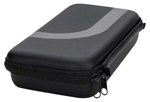 Hama Hardcase Tasche für Nintendo Switch (Hartschalen Hülle, inkl. Zubehör-Netzfach für Spiele, Eingabe-Stifte, usw.) Konsolen Schutzhülle schwarz