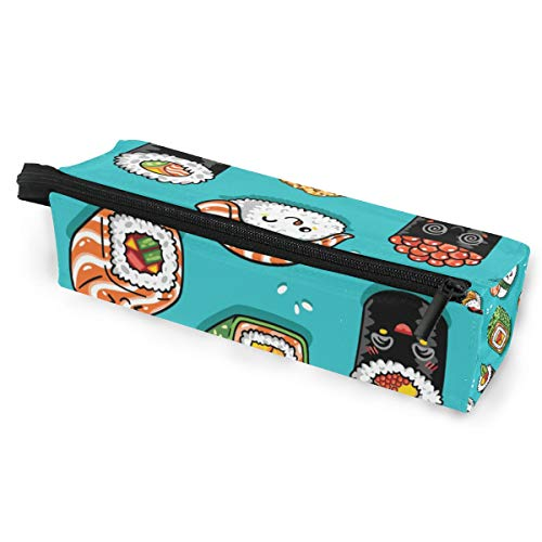 Sonnenbrille Fall Stift Federmäppchen Cartoon Rollen Sushi Fisch Reis Schreibwaren Beutel Aufbewahrungsbox Kosmetiktaschen Brillen Tasche mit Aufhängeöse