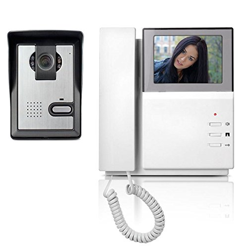 Yokkao Video Doorbell Phone, Yokkao® Video Intercom Monitor 4.3`` Door Phone Home Security Color TFT LCD HD Wired for House/Office/apartment/Hotel (White)