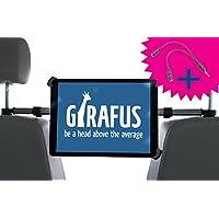 Girafus Relax H3 Universale Tablet Auto Kfz-Kopfstützen-Halterung Rücksitz für 9,5-14,5 Zoll – iPad Pro 12.9'', Galaxy TabPro S, MS Surface 12.3'' – Mittig für optimale Sicht von der Rücksitzbank