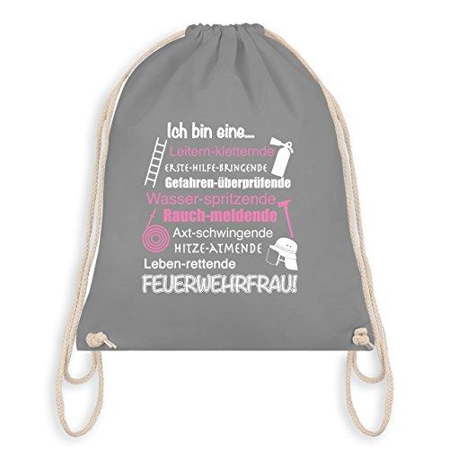feuerwehrschlauch taschen Feuerwehr - Ich bin eine Feuerwehrfrau! - Unisize - Hellgrau - WM110 - Turnbeutel & Gym Bag