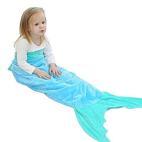 Enfants Sac de couchage Gigoteuse queue de sirène Chemise de nuit pyjama coton Couche