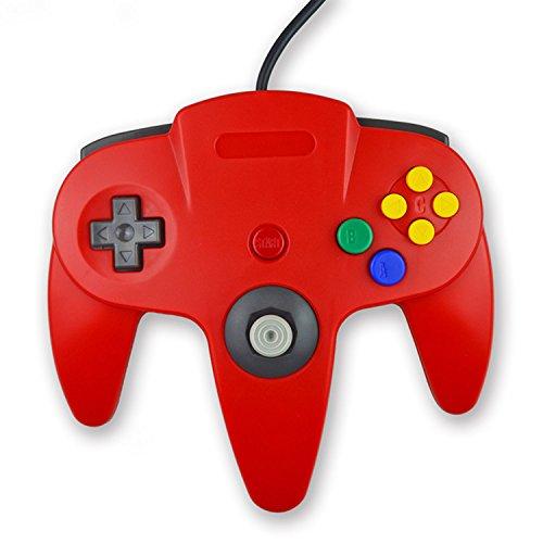 koalud Classic Retro Wired Gamepad Controller mit 2x 6ft Verlängerung Kabel für Nintendo 64Nintendo64N64Konsole blau/weiß
