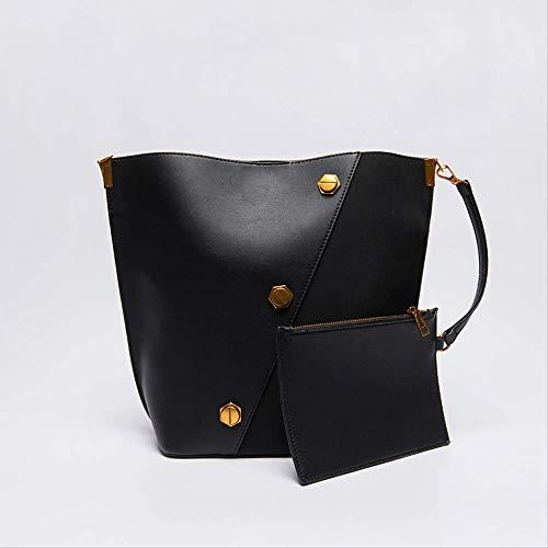 Designer Inspiriert Wildleder Handtasche (MUZIBAGS Umhängetasche mit Fächern, Vintage Wildleder-Umhängetasche, Designer-Persönlichkeit-Beuteltasche Schwarz)