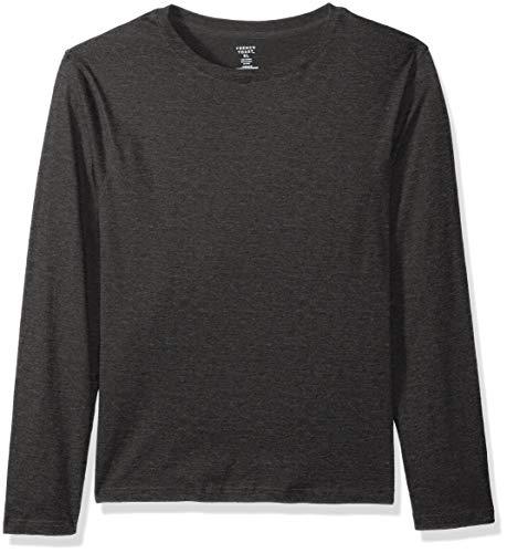 French Toast Herren Long Sleeve Crewneck Tee T-Shirt, Heather Charcoal, Groß - Crewneck Heather Jersey T-shirt