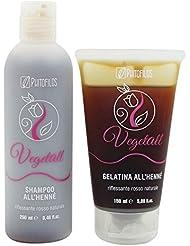 YUMIBIO SHOP Coffrets cadeaux - Phitofilos VegetAll Shampooing 250 ml + Gel 150 ml Henné - Renforce les Reflets Roux et Châtains-Roux - Vegan et Nickel Testé