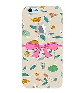 PrintVisa Stylish Cool Girl Bow 3D Hard Polycarbonate Designer Back Case Cover for Apple iPhone 6 Logo