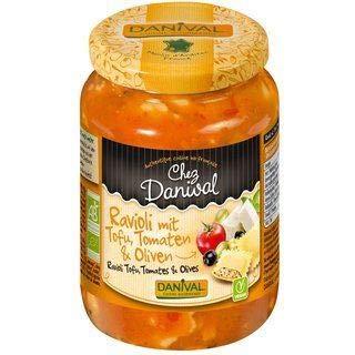 Danival   Tofu Ravioli with Olives & Tomatoes - Organic   2 x 670g (UK)
