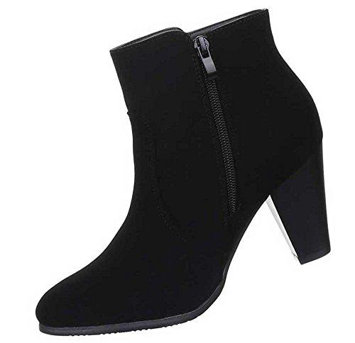 Stiefeletten Designer Boots Damen Schwarz Schuhe FAqdpZ