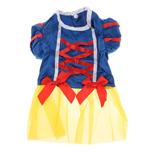 Pet Dog Snow White Disney Halloween Dress Kostuem Outfit Prinzessin Kleider M