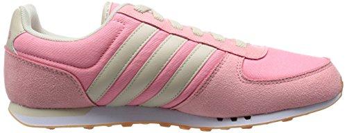 Adidas City Racer W Scarpe Sportive, Donna Vispnk/Bone/Ftwwht