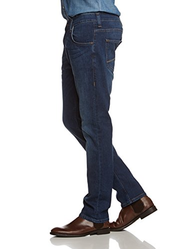 MUSTANG Herren Tapered Jeans Chicago Blau (dark scratched used 582)