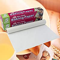 Non-Stick Baking Paper For Home Baking, Fat-free cooking, No need for greasing, Microwave and Oven proof, 1 ROLL (30CM x 5M)