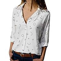 Wogo Women's Loose Casual Long Sleeve Chiffon Top T-Shirt Printed Blouse