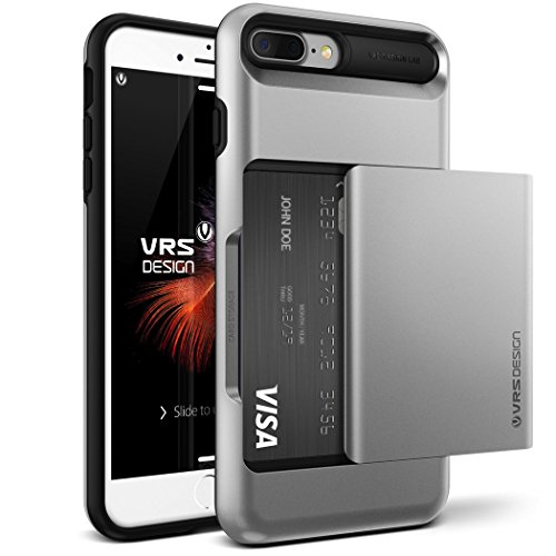 Cover iPhone 7 Plus, VRS Design [Damda Glide][Argento Satinato]- [Scorrevole