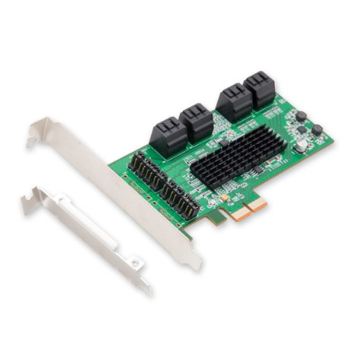 X4 Mit X8-steckplatz (Syba SD-PEX400994Port SATA III PCI-EXPRESS 2.0x 1Controller Karte 8-port)