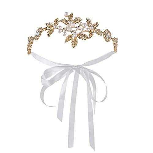 Metme 1920s Stirnband Retro 20er Jahre Haarband Flapper Stirnband Damen Great Gatsby Kostüm Accessoires (Gatsby-kleidung Damen Für Great)