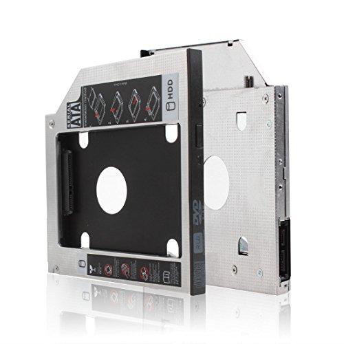 DiGiYes® 9.5mm / 0.4in Universelle Second HDD Festplatte Ultrabay Slim Caddy Modul Adapter Für Lenovo Y400 Y500