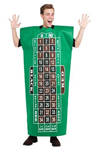 Kostüm Royale Casino Halloween (Bristol Novelty AF023Roulette Tisch Kostüm One)