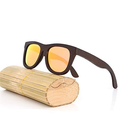 DAIYSNAFDN Bambus Sonnenbrillen Männer Holz Sonnenbrillen Polarisierte Designer Spiegel Original Holz Sonnenbrille 13