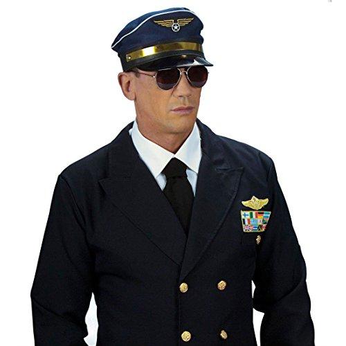 NET TOYS Pilotenbrille Sonnenbrille Pilot Pornobrille Piloten Aviator Pilotenbrillen Kostüm Zubehör Accessoires Polizeibrille Copbrille