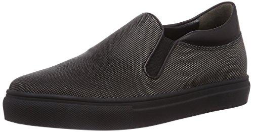 Kennel und Schmenger Schuhmanufaktur Basket, Low-Top Sneaker donna, Argento (Silber (steel So. schwarz)), 36