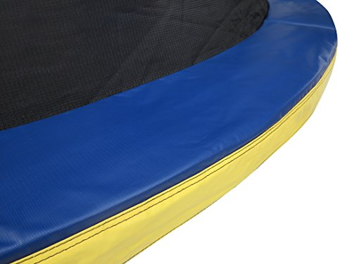 Zero Gravity Kids' Ultima 4 High Spec Trampoline with Safety Enclosure Netting and Ladder, Blue/Yellow, 6 Ft