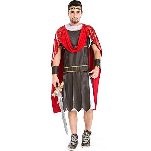 Warrior Kostüm Erwachsenen Für Spartan - COSOER Gladiator Cosplay Kostüm Spartan Warrior Herren Game Stage Anzug Für Halloween Herrenbekleidung,Multi-Colored-M