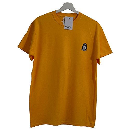 Actual Fact Pulp Fiction x MIA Wallace Cocaine Embroidered Yellow Tee T-Shirt (Small - XXL)