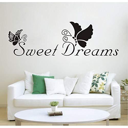 PAWANG Black Butterfly Sweet Dreams Rimovibile Vinile Wall Stickers Decalcomanie Quotazione Soggiorno Camera da Letto Sfondo Home Decor Spedizione Gratuita